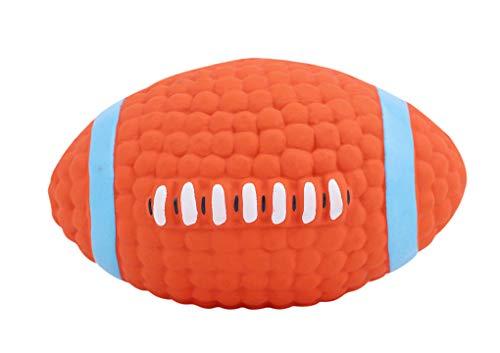 RUIXIB Hundespielzeug Ball Hund Zahn Reinigung Spielzeug Bälle mit Zahnpflege Funktion aus Naturkautschuck Spielzeug, Interaktive Spielzeuge für Hunde, Spiel Spaß Football Toy Perfekte Zahnpflege