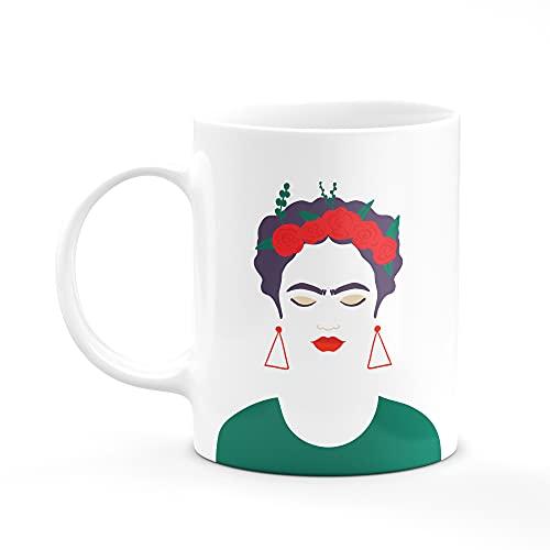 Taza Frida Desayuno Taza de Té Regalos Originales Frases Inspiradoras Taza De Cerámica Blanca 11oZ (Modelo-2)