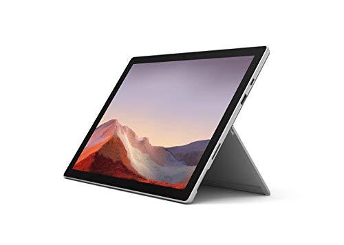 """Esclusiva Microsoft Surface Pro 7 (Windows 10, Touch Screen 12.3"""", Intel Core i5, 8GB RAM, 128GB SSD) + Cover nera + Pennino Surface Platino, PC ibrido versatile e performante."""