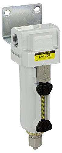 PneumaticPlus SAF3000M-N03B-MEP Compressed Air Particulate Filter 3/8' NPT - Manual Drain, Metal Bowl, 10 Micron
