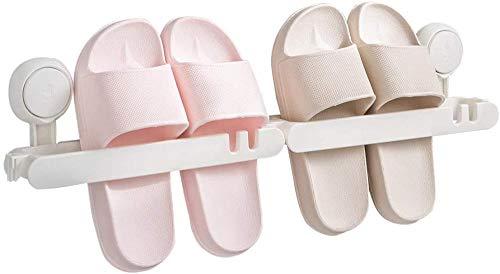 HHGHF Soporte de Zapatilla Ventosa montada en la ParedOrganizador de Estante de Zapatos extraíble Soporte de Zapato de Pared splicable Zapatilla Reutilizable Impermeable