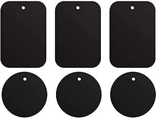 [6 stycken] iVoler metallplatta för magnetisk bilhållare magnet bilhållare hållare med 3M självhäftande remsa, 360 ventile...