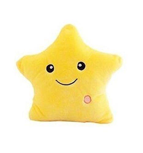 Aoxintech, funciona con pilas Smile Star 7intermitente LED luz hasta Throw Pillow...