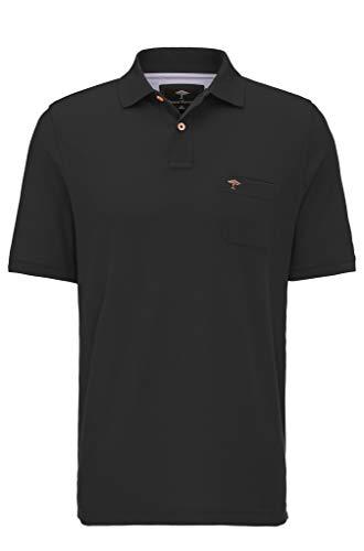 FYNCH-HATTON Basic Poloshirt aus Piqué mit Brusttasche aus Reiner Baumwolle, Black, L