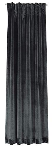Joop! Show anthrazit Dekoschal Verd.SL Farbe dunkelgrau Größe 130x250cm Blickdicht Einfabrig Uni