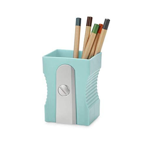 Balvi Portalápices Sharpener Color Turquesa Bote para lápices Original y Divertido en Forma de sacapuntas Plástico