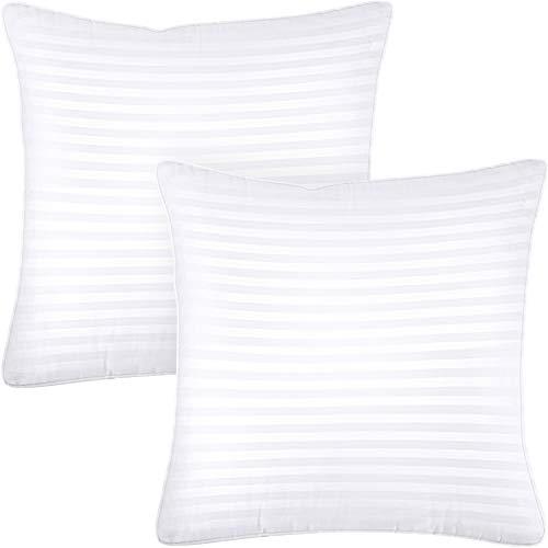 Utopia Bedding Kopfkissen (2er Set) - 65 x 65 cm Schlafkissen mit Reißverschluss - 1000g Anpassbare Hohlfaser Füllung mit Baumwoll-Mischgewebe - Weich et Atmungsaktiv Kissen (Weiß)