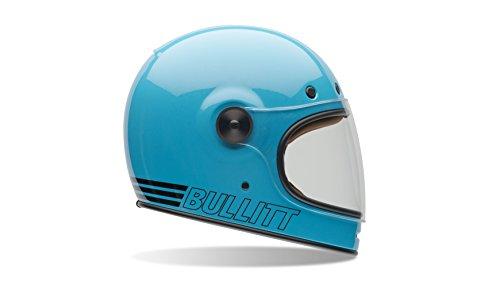 Bell Powersports Bullitt Motorradhelm, Blau (Retro Blau), L