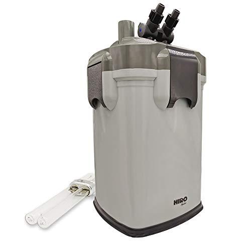 HIRO AQUATICS External Canister Aquarium Filter with UV Sterilizer, Media Included (Fits 70-100 Gal Tank)