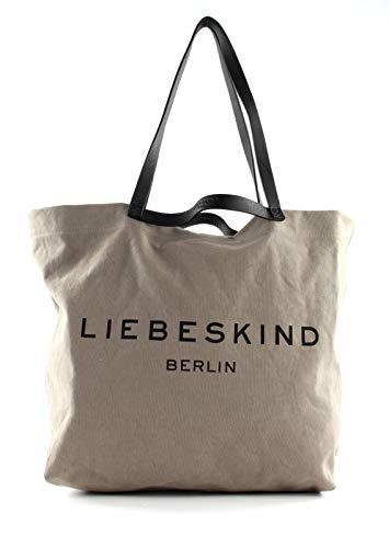 Liebeskind Berlin Damen 899-Aurora20-Canvas-taupe Shopper, taupe, Large