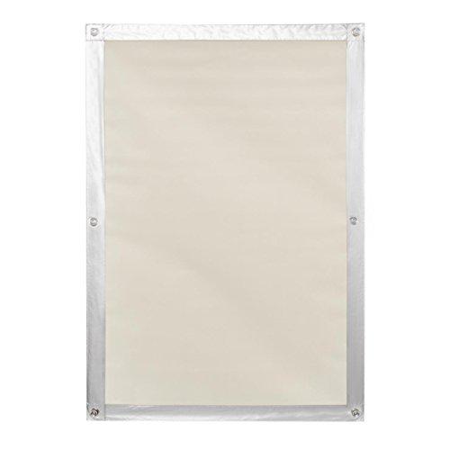 Lichtblick Dachfenster Sonnenschutz Haftfix in Beige, 47 x 96,9 cm, Thermorollo mit reflektierender Außenbeschichtung, ohne Bohren, mit Saugnäpfen für FK06