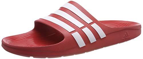 adidas Duramo Slide, Unisex-Erwachsene Dusch- & Badeschuhe, Rot (Collegiate Red/White/Collegiate Red), 43 1/3 EU (9 Erwachsene UK)