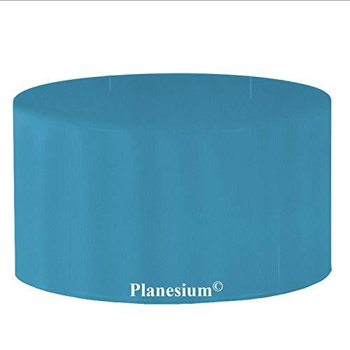Holi Europe Premium étui Gartenstuhl-Kissen Housse de Protection de Table de Jardin Ronde Ø 120 cm x H 75 cm Turquoise