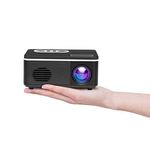 MmanuuFfacturer Sjibol S361 80 lúmenes 480x320 píxeles Mini proyector Portable, Ayuda 1080P (Color : Black)
