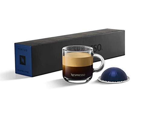NESPRESSO Coffee Pods 50 Capsules VertuoLine Machine Espresso Sleeves Light/Medium/Dark Roast (Choose your flavor Or variety packs) (50 Pods Diavolitto (intense powerful))