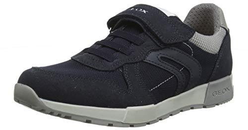 Geox J Alfier Boy C, Zapatillas para Niños, Azul (Navy/Grey C0661), 32 EU
