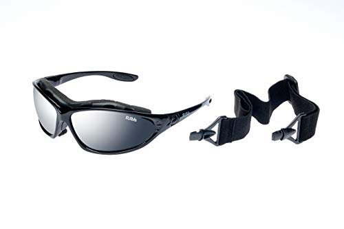 Ravs Sportbrille mit Band und Bügel - Fahrraddbrille Radbrille Kitesurfing Sonnenbrille