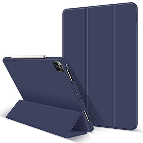 Capa A-BEAUTY para novo iPad Pro 11 2020 Smart Case com [Suporte para Apple Pencil][Ultrafinho][Despertar/hibernar automático], Azul marinho