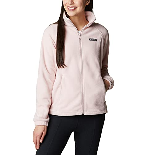 Columbia Women's Plus Size Benton Springs Full Zip Fleece Jacket, Mineral Pink, 1X