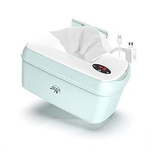 Calentador de Toallitas para Bebé, Calentador de Toallitas Humedas para Bebé, con Adaptador, Baby Essentials