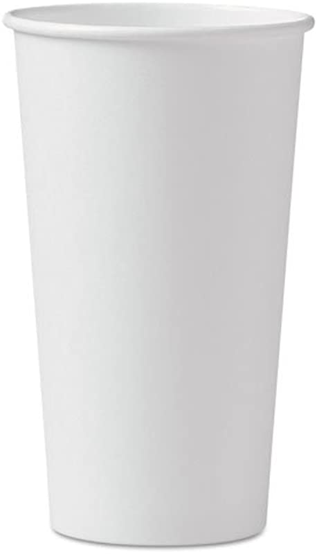SOLO Cup Company Polycoated Hot Paper Cups 20 Oz White 600 Carton 420W