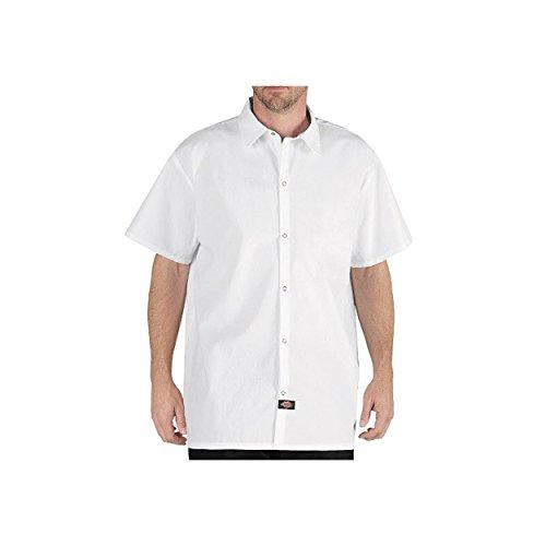 Dickies Herren No Pocket Snap Button Koch Shirt, Wei?, X-Large