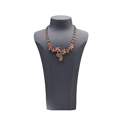 HXiaDyG Estante de Exhibición de la Joyería Retrato Collar Display Rack Puntales exhibición de la joyería Escaparate exhibición de la joyería para Joyería (Color : Gris, Size : One Size)