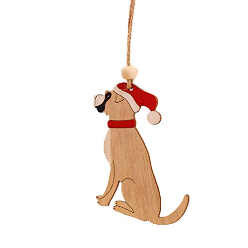 Christmas Wooden  1Pc Wooden Hanging Christmas Tree Cabin Elk Car Ornament Xmas Party Home Decor Home & Garden Decoration & Hangs