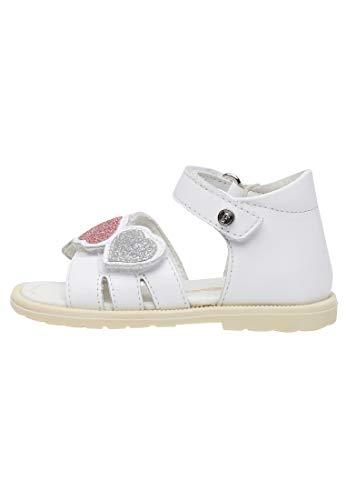 Falcotto KINZI-Sandalo con cuori glitter Bianco 21