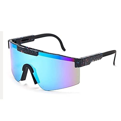 ZXQ Gafas de Sol Deportivas polarizadas, al Aire Libre Pit-Vipers Gafas de Ciclismo para Correr Montañismo Golf Vacaciones Carreras Senderismo Pesca (Color : C15, Tamaño : 5.4in x4.4in x2.3in)