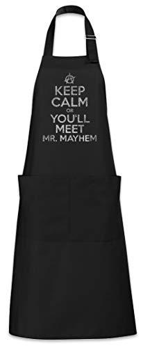 Urban Backwoods Keep Calm Or You'll Meet Mr. Mayhem Tablier De Cuisine Cuisson Gril BBQ Barbecue
