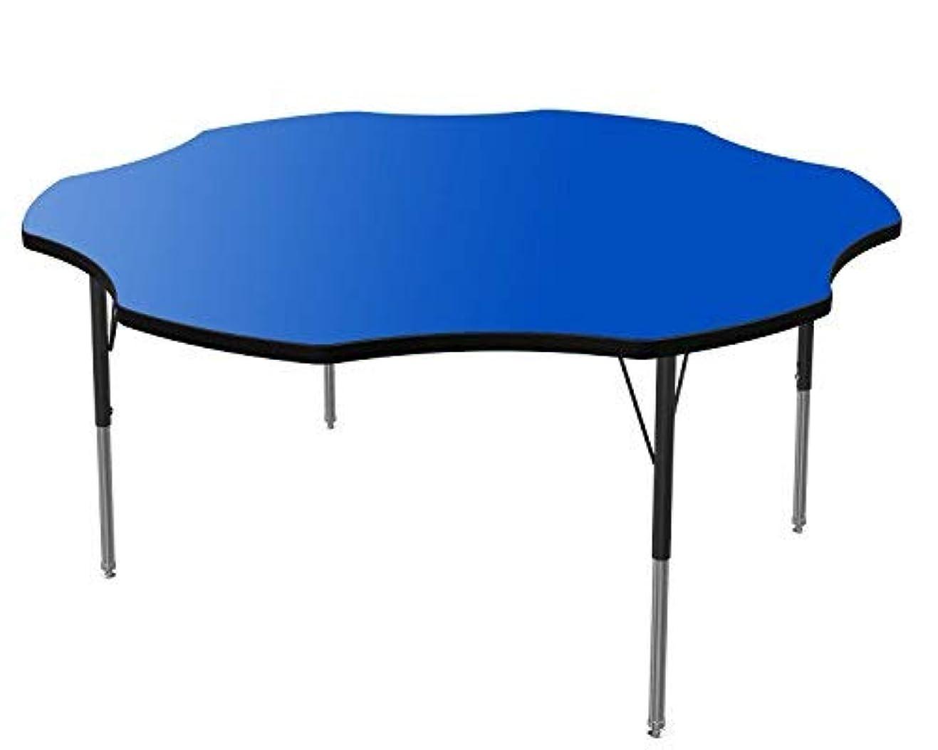 ビタミン悪魔振る舞うMarco Group Flower Adjustable Activity Table 60 Blue Black Trim Standard Legs [並行輸入品]