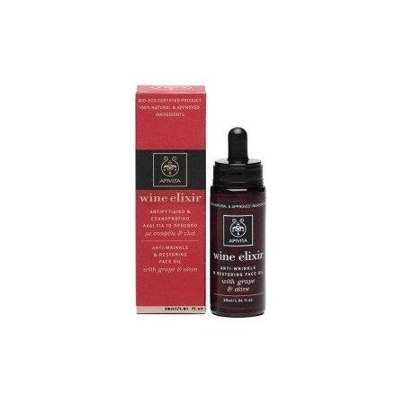 Apivita Wine Elixir Aceite de y la restauración de cara con UVA antiarrugas & Oliva, 30ml