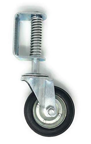 New 6 Inch Spring Loaded Swivel Wheel Heavy Duty 14' Overall Height