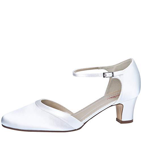 Rainbow Club Zapatos de novia Anika - Two Peace Pumps, Pure White,...