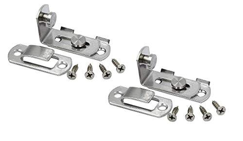 直角ドアバックル 留め具 90度 引き戸ドア 鍵 スライディングロック ポイント消化 後付け スライド式 2個入