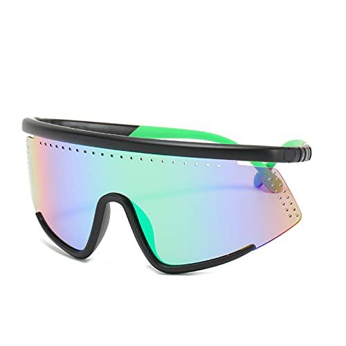 YTYASO Gafas de Sol de Moda para Hombres y Mujeres, Gafas de Sol con Montura Grande, Visera Protectora para Hombres, Gafas a Prueba de Viento UV400