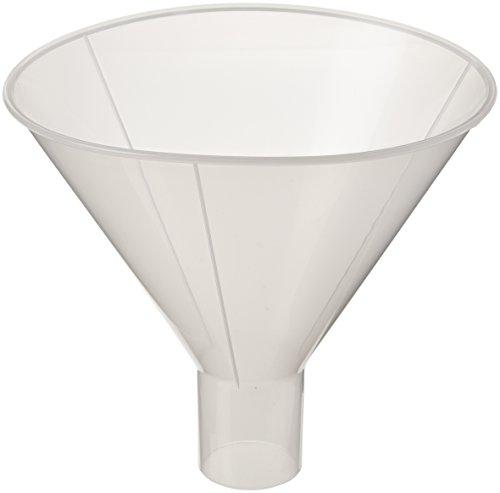 Globe Scientific 600166-1 Polypropylene Powder Funnel, 180mm Funnel Size, 180mm Top Diameter
