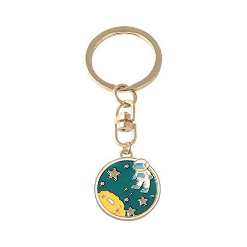 キーホルダー 伸びる 地球からの脱出!UFOスペースクラフト宇宙飛行士ロケットプラネットスパイマンユニバース星エナメルキーリングキーチェーン (Color : 4)