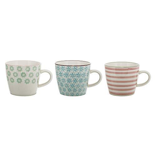 Bloomingville Tassen Patrizia, blau grün rosa, Keramik, 3er Set