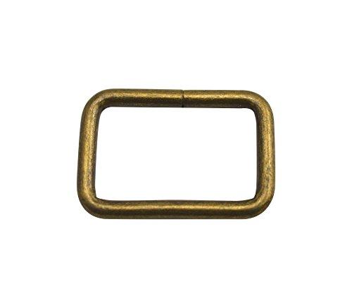 Wuuycoky Anillos rectangulares de bronce de 3,17 cm de longitud interior, sin soldadura, para cinturones de cincha, paquete de 10 unidades