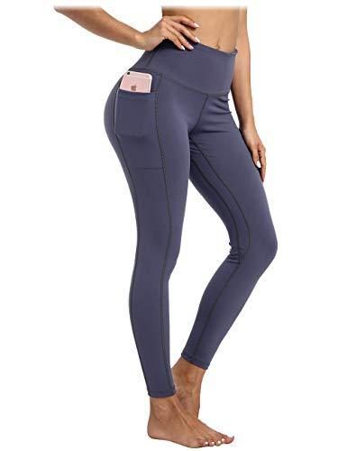 AY Leggings de Cintura Alta Pantalones de Yoga con Bolsillos, Legging de Entrenamiento para Mujeres.