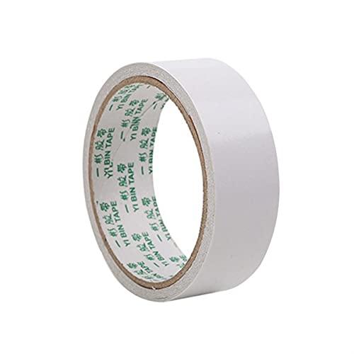 Blanco Super Fuerte Pasta Cinta de Doble Cara Pegamento Autoadhesivo Papel Oficina Papelería Scrapbooking Masking Tap (Color : 5mm,...