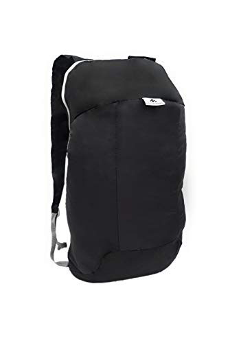 QUECHUA 1858163 - Mochila de senderismo, color Black / Carbon Grey