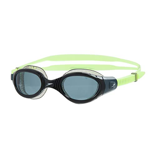 Speedo Unisex Adult Futura Biofuse Flexiseal Goggles, Lime/USA Charcoal/Clear, One Size