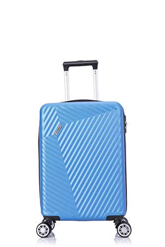 Flymax 55x35x20 4 Wheel Super Lightweight Cabin Luggage Suitcase Hand Carry on Flight Travel Bags Approved On Board Fits Flybe Easyjet Ryanair Jet 2