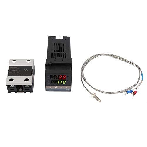 Controlador de Temperatura 0 ℃ ~ 1300 ℃ Alarma REX-C100 Digital LED PID Termostato Kit AC110V-240V
