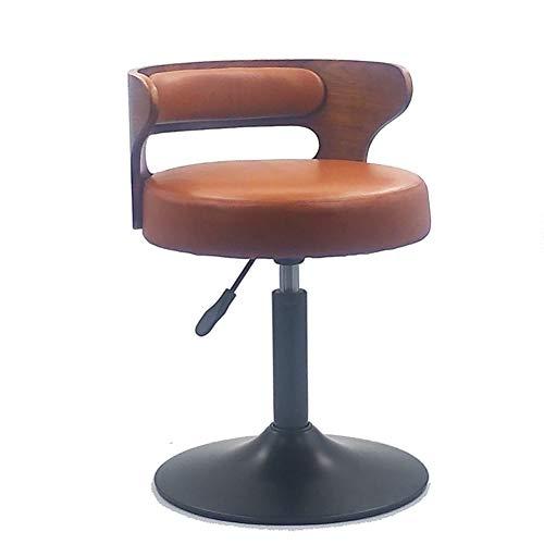 F-JX Moderne Echt Kuhfell Barhocker, Frühstück Esszimmerstühle, 360 ° Schwenkgasheber-Stühle, für Frühstück Bar, Tresen, Küche und Heim Barhocker,D