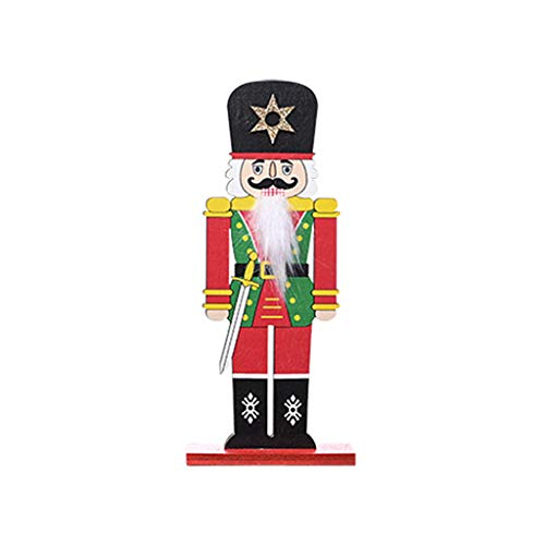 BELTI Hölzerne Nussknacker Soldat Puppe Figuren Frohe Weihnachten Dekoration Office Home