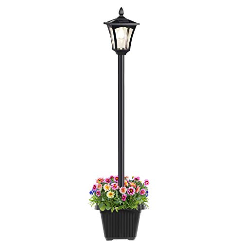 Solar Post Lamp Light,Waterproof Outdoor Solar Powered Garden Lights, Garden Lamp Post Light for Yard, Lawn, Pathway, Driveway,64 Inches